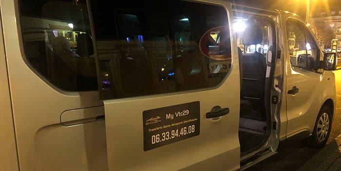 Solution de transport en groupe jusqu'à 8 passagers avec chauffeur privé VTC à Quimper